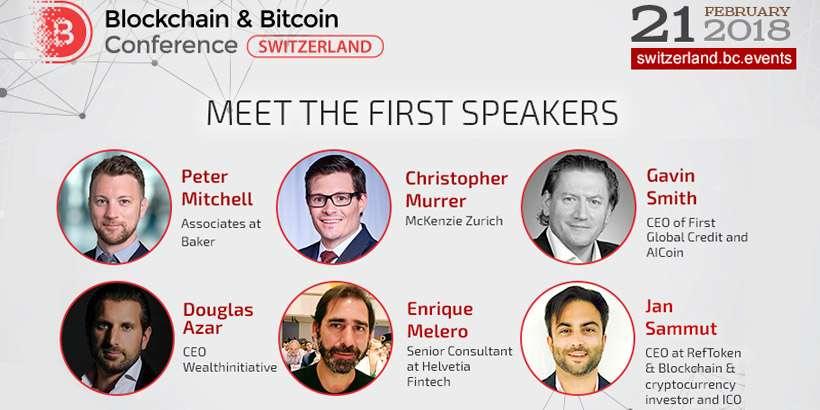 На Blockchain & Bitcoin Conference Switzerland обсудят инвестиции в токены, глобальное значение блокчейна